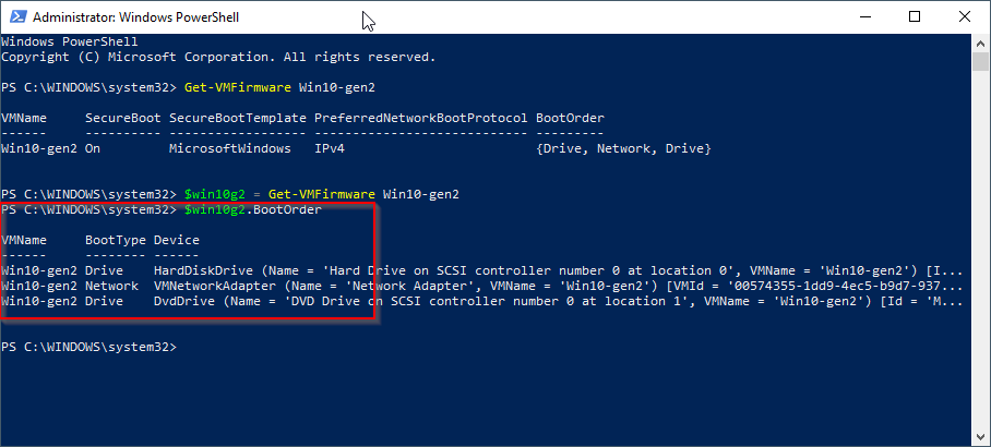 How to change VM bootorder with Powershell | VMLabBlog com